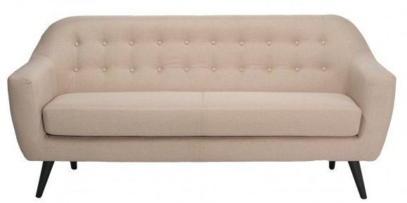 Canapea fixa tapitata cu stofa Hannah Beige