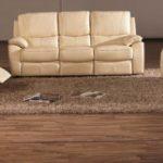 Canapea din piele naturala, 3 locuri cu 2 reclinere manuale (Model 2672)